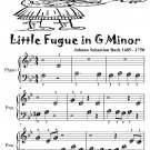 Little Fugue in G Minor BWV 578 Beginner Piano Sheet Music Tadpole Edition PDF