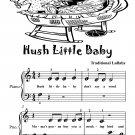 Hush Little Baby Beginner Piano Sheet Music Tadpole Edition PDF