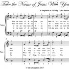 Take the Name of Jesus With You Easy Piano Sheet Music PDF