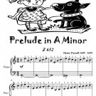 Prelude in A Minor Z 652 Easiest Piano Sheet Music Tadpole Edition PDF