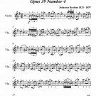 Waltz in E Minor Opus 39 Number 4 Easy Violin Sheet Music PDF