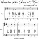 Creator of the Stars of Night Easy Piano Sheet Music PDF