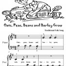 Oats and Beans and Barley Grow Beginner Piano Sheet Music Tadpole Edition