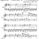 Cumberland Waltz Queen Victoria's Easy Piano Sheet Music