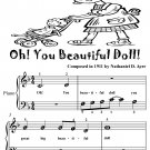 Oh You Beautiful Doll Beginner Piano Sheet Music Tadpole Edition