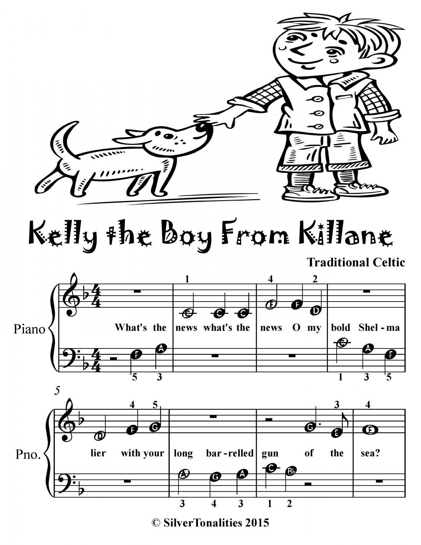 Kelly the Boy from Killane Beginner Piano Sheet Music Tadpole Edition