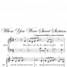 When You Were Sweet Sixteen Beginner Piano Sheet Music PDF