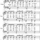 Jesus Loves Even Me Easy Piano Sheet Music PDF