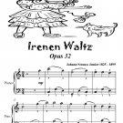 Irenen Waltz Opus 32 Easiest Piano Sheet Music Tadpole Edition PDF