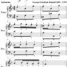 Menuet 1 Andantino Aylesford Pieces Easy Piano Sheet Music PDF