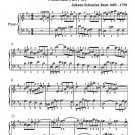 Allemande French Suite 3 BWV 814 Easy Piano Sheet Music PDF