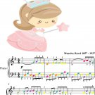 Pavane for a Dead Princess Easy Piano Sheet Music with Colored Notes