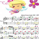 Violetta Polka Opus 404 Easy Piano Sheet Music with Colored Notes