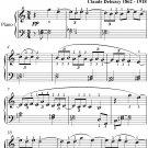 Clair de Lune Suite Bergamasque Easy Elementary Piano Sheet Music