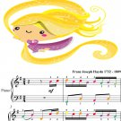 Gypsy Rondo Easy Piano Sheet Music with Colored Notes