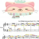 Solfeggietto Easy Piano Sheet Music with Colored Notes