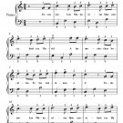 Las Mananitas Easy Piano Sheet Music