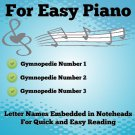 Gymnopedies for Easy Piano Sheet Music