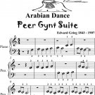 Arabian Dance Peer Gynt Suite Beginner Piano Sheet Music Tadpole Edition