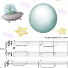 Uranus the Magician Easy Piano Sheet Music with Colored Notes