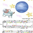 Neptune the Mystic Easy Piano Sheet Music with Colored Notes