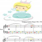 Sonata in C Major K545 Easiest Piano Sheet Music with Colored Notes