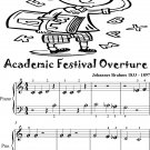 Academic Festival Overture Beginner Piano Sheet Music