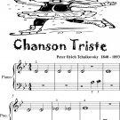 Chanson Triste Beginner Piano Sheet Music