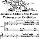 Arguing of Children After Playing Pictures at an Exhibition Beginner Piano Sheet