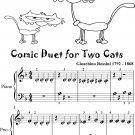 Comic Duet for Two Cats Beginner Piano Sheet Music
