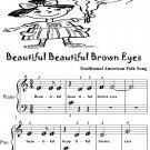 Beautiful Brown Eyes Beginner Piano Sheet Music