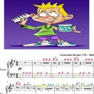 Barber of Seville Easy Piano Sheet Music with Colored Notes
