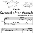 Fossils Carnival of the Animals Beginner Piano Sheet Music