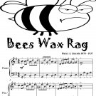 Bees Wax Rag Easy Piano Sheet Music Tadpole Edition