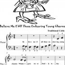 Believe Me If All Those Endearing Young Charms Beginner Piano Sheet Music