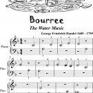 Bourree the Water Music Beginner Piano Sheet Music