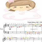 Reverie Easy Piano Sheet Music with Colored Notes