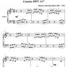 Jesu Joy of Man's Desiring Beginner Piano Sheet Music