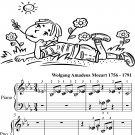 Symphony Number 39 in E Major K543 3rd Mvt Beginner Piano Sheet Music