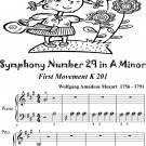 Symphony Number 29 in A Minor 1st Mvt K201 Beginner Piano Sheet Music