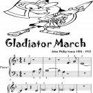Gladiator March Beginner Piano Sheet Music