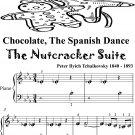 Chocolate the Spanish Dance Nutcracker Suite Beginner Piano Sheet Music