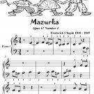 Mazurka Opus 67 Number 4 Beginner Piano Sheet Music