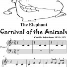 The Elephant Carnival of the Animals Beginner Piano Sheet Music