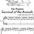Pianists Carnival of the Animals Beginner Piano Sheet Music