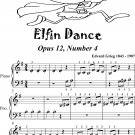 Elfin Dance Opus 12 Number 4 Beginner Piano Sheet Music