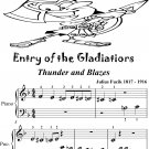 Entry of the Gladiators Thunder and Blazes Beginner Piano Sheet Music