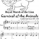 Royal March of the Lion Carnival of the Animals Beginner Piano Sheet Music