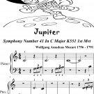 Jupiter K551 First Movement Beginner Piano Sheet Music