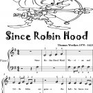 Since Robin Hood Beginner Piano Sheet Music